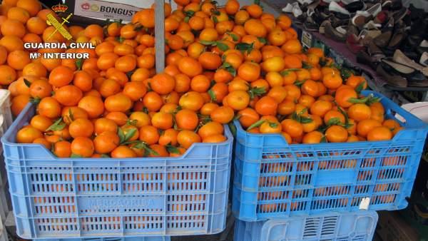 Sustracción de mandarinas