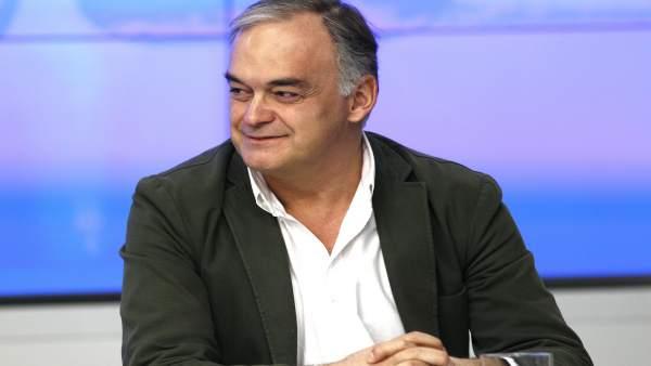 Esteban González-Pons en la sede nacional del PP
