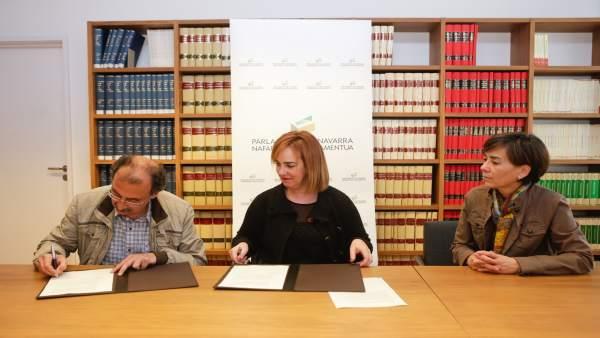 Emilio Majuelo, Ainhoa Aznárez y Eloisa Ramírez