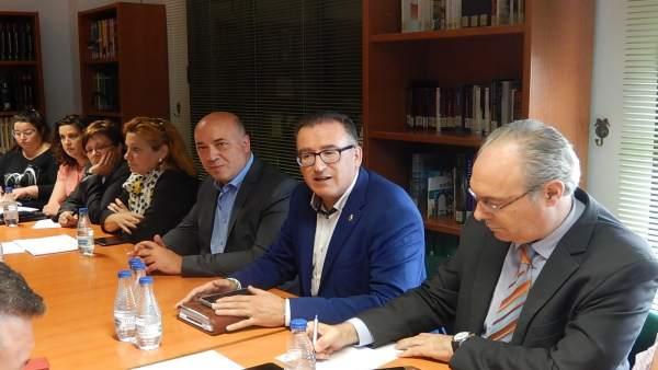 Reunión del PSOE en El Viso