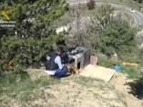 Lugar donde la Guardia Civil encontró a los perros en Jaca