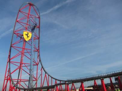 Montaña rusa Ferrari Land en PortAventura World