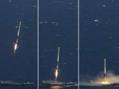 El Falcon 9 posándose