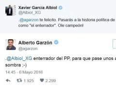 """García Albiol tilda a Garzón de ser """"el enterrador"""" de IU y este le responde que lo será del PP"""