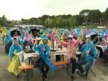 Empleados chinos de Tiens en la Casa de Campo.