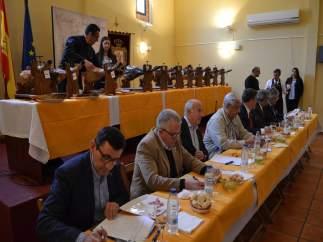 Jurado durante la cata de jamón en Jerez de los Caballeros