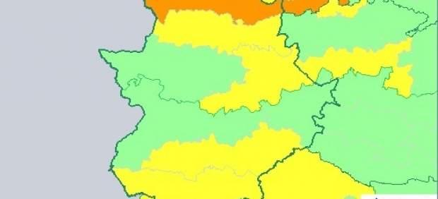 Continúan las lluvias generalizadas que serán fuertes en Andalucía y Extremadura
