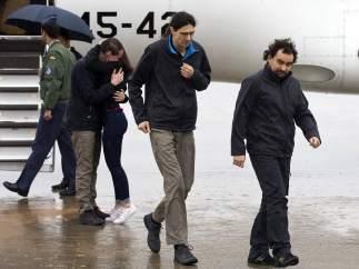 Periodistas españoles liberados