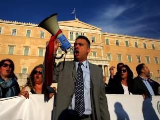Protestas contra las reformas fiscal y de pensiones en Grecia