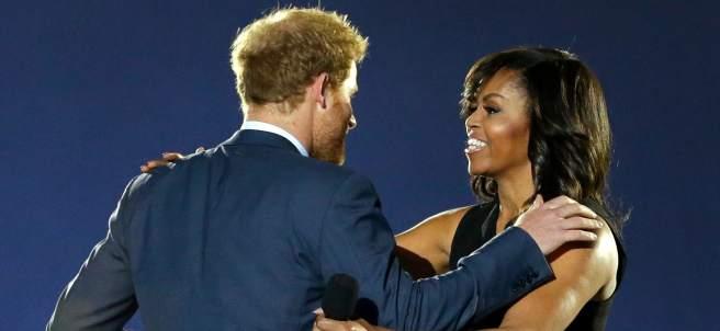 Michelle Obama y Enrique de Inglaterra