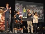 Pablo Iglesias, Íñigo Errejón, Carolina Bescansa y Pablo Echenique en Zaragoza