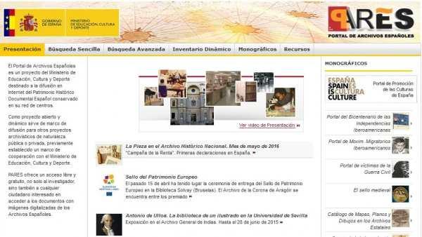 PARES, Portal de Archivos Españoles