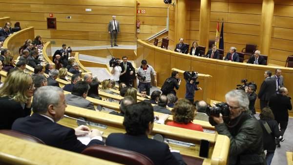 Rajoy preside en Grupo del PP en el Senado