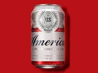 Nuevo lata de Budweiser