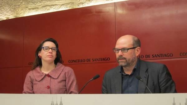 Martiño Noriega y Branca Novoneyra, en rueda de prensa