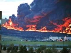 Fuego en el cementerio de Seseña