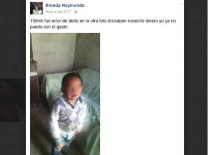 Pone a su hijo a la venta en Facebook