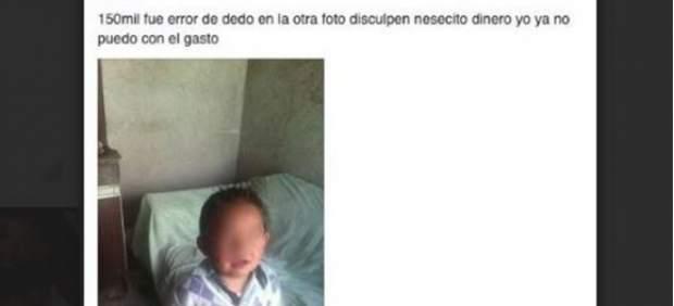Detenida por poner a la venta a su hijo de 5 años en Facebook