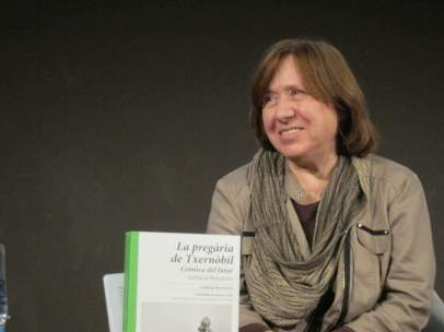 La escritora Svetlana Alexiévich, Premio Nobel 2015
