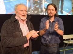 Pablo Iglesias y Julio Anguita