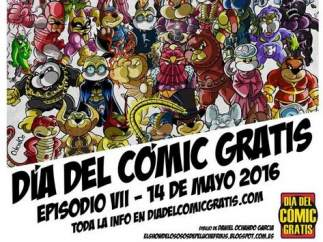 Cartel de la jornada del cómic gratis