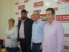 Palomares y Rodríguez (centro) en la rueda de prensa