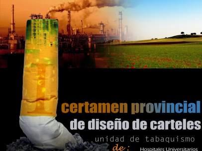 Cartel del I certamen provicnicial de diseño de carteles para el Día Sin Tabaco