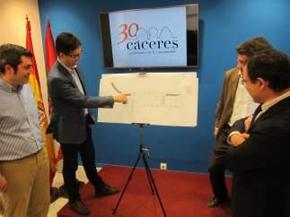 Presentación de la urbanización de Primo de Rivera en Cáceres