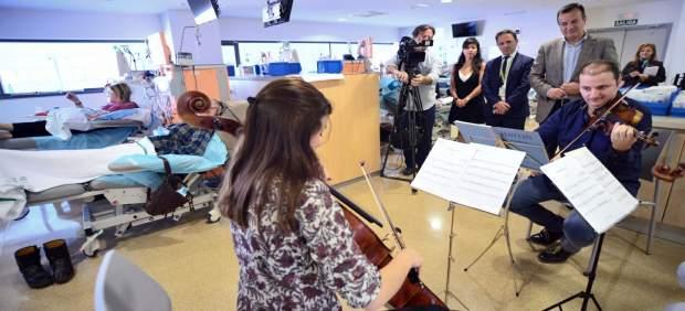 Concierto de música clásica en un hospital de Granada