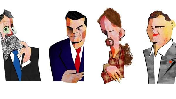 Mariano Rajoy, Pedro Sánchez, Pablo Iglesias y Albert Rivera