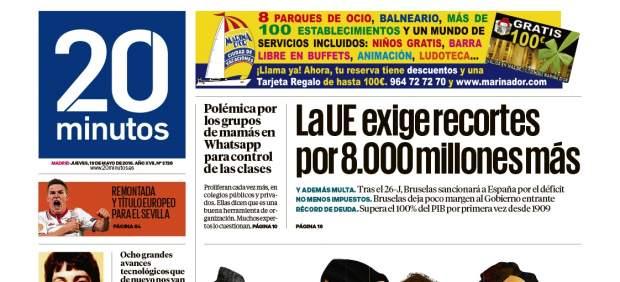 El diario '20minutos' refuerza su posición como segundo más leído y se acerca a 'El País'