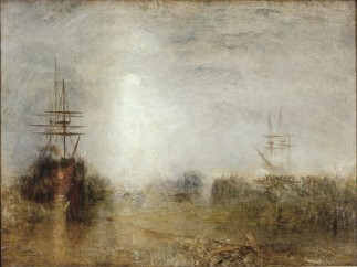 Joseph Mallord William Turner (British, 1775–1851) - Whalers (Boiling Blubber) Entangled in Flaw Ice Endeavouring to Extricate Themselves, ca. 1846