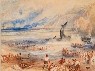 Joseph Mallord William Turner (British, 1775–1851) - The Whale on Shore, ca. 1837