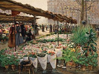 'Blumenmarkt an der Madeleine IV', um 1889