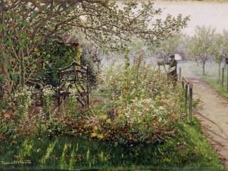 'Der Maler im Blumengarten (Selbstbildnis)', um 1891/92