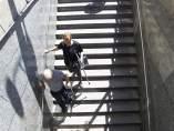 Escaleras de acceso a la línea 1