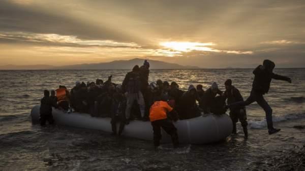 Patera en Lesbos