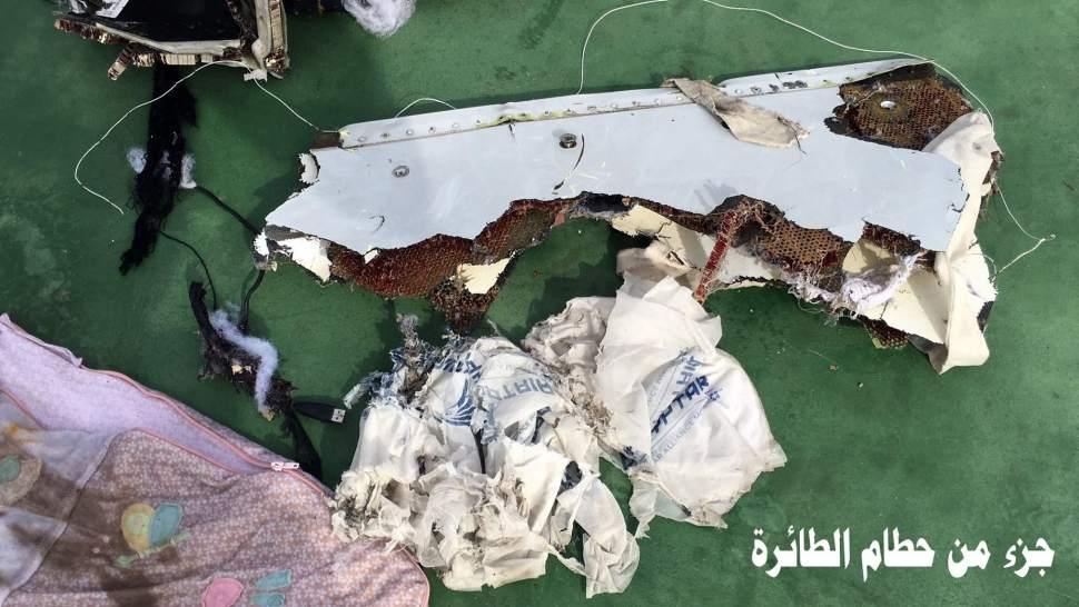 Primeras imágenes de los restos del avión de Egyptair