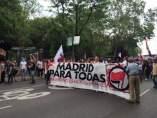 Manifestación antifascista en Madrid