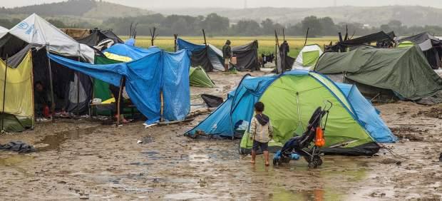El mal tiempo y las lluvias en Grecia empeoran las condiciones de los refugiados en Idomeni