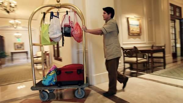 Trabajador de un hotel