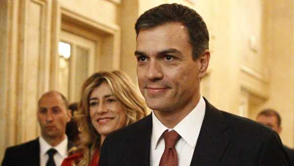 Pedro Sánchez con su mujer, Begoña Gómez