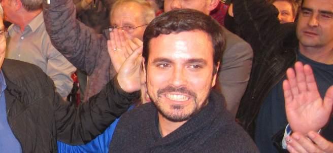 Alberto Garzón, Manuel González Orviz y Gaspar LLamazares