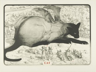 Robert A. Nelson - Cat and Mice, 1975