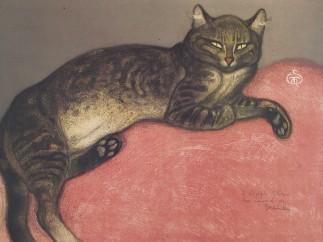 Theophile Alexandre Steinlen - The Cat in Winter, 1909