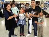 Salida refugiados a España