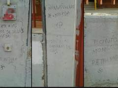 Realizan pintadas contra los niños de un colegio de educación especial de Fuenlabrada
