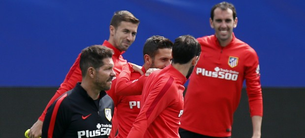 Simeone no quiere dar pistas y el Atlético entrenará dos días a puerta cerrada