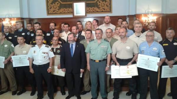 Condecorados por el Día de la Seguridad Privada