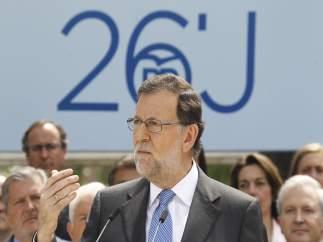 Rajoy en la presentación de sus cabezas de lista en Madrid